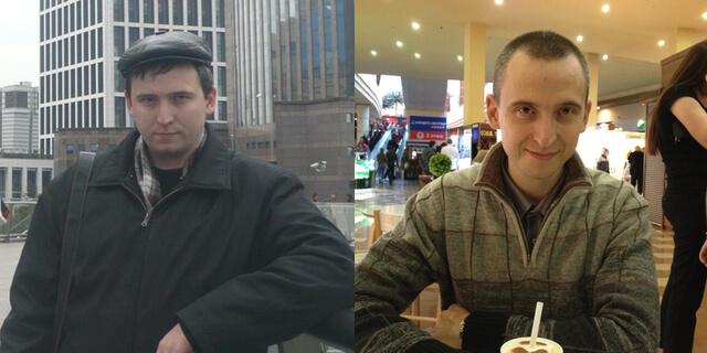 Сравнение веса Слева - 105кг. Справа - 75кг.
